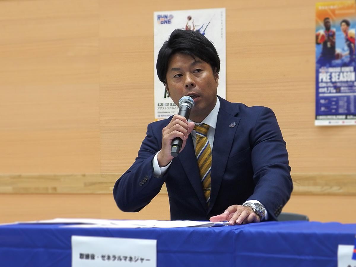 新チーム補強ポイント・方針/取締役ゼネラルマネージャー 上原和人